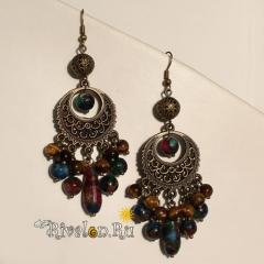 Серьги Византия с мозаикой