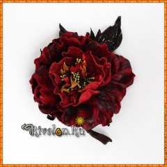 Брошь Староанглийская роза