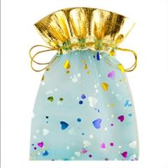 Мешочек для подарков голубой