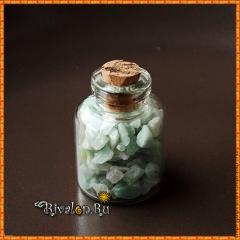 Амазонит в бутылочке