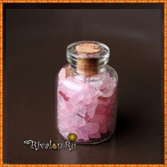 Розовый кварц в бутылочке