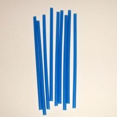 Свеча тонкая синяя 10 шт