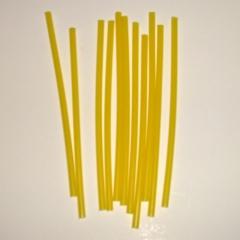 Свеча тонкая желтая 10 шт