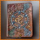 Обложка для паспорта, автодокументов Кельтский Трискель