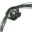 Шнур кожаный зеленый