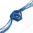 Шнур кожаный синий